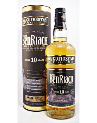 BenRiach Curiositas Single Malt whisky 10 Years 70 cl