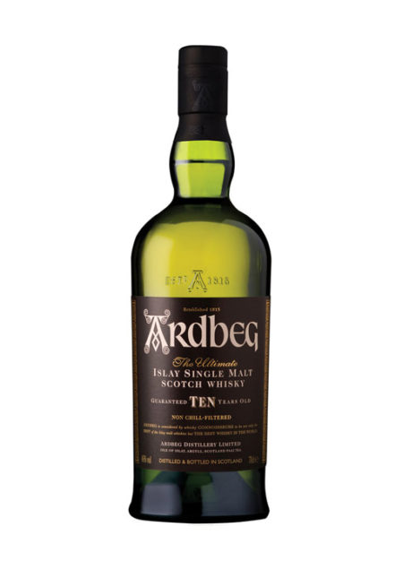 Ardbeg Single Malt Whisky 10 Years Old 70 cl
