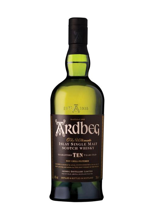 Ardbeg Single Malt Whisky 10 Years Old 70 cl