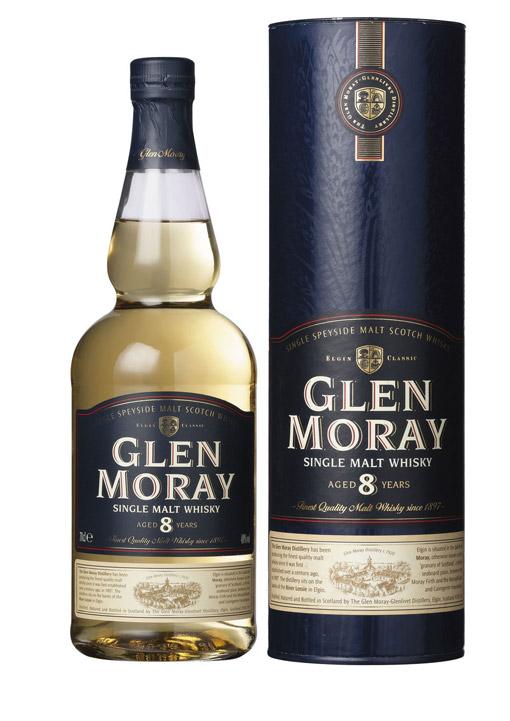 Glen Moray single Malt whisky 8 Years 70 cl